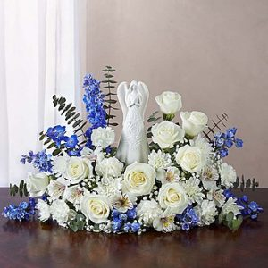 Serenity Angel Arrangement Blue & White