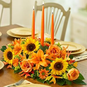 Fields of Europe Fall Centerpiece by Thomas Florist