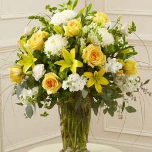 Beautiful Blessings Vase Arrangement-Yellow