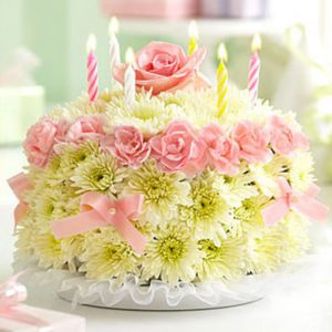 Birthday Flower Cake Pastel by Thomas Florist
