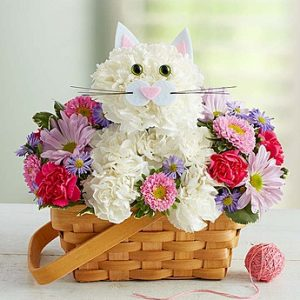 Fabulous Feline arrangement by Thomas Florist